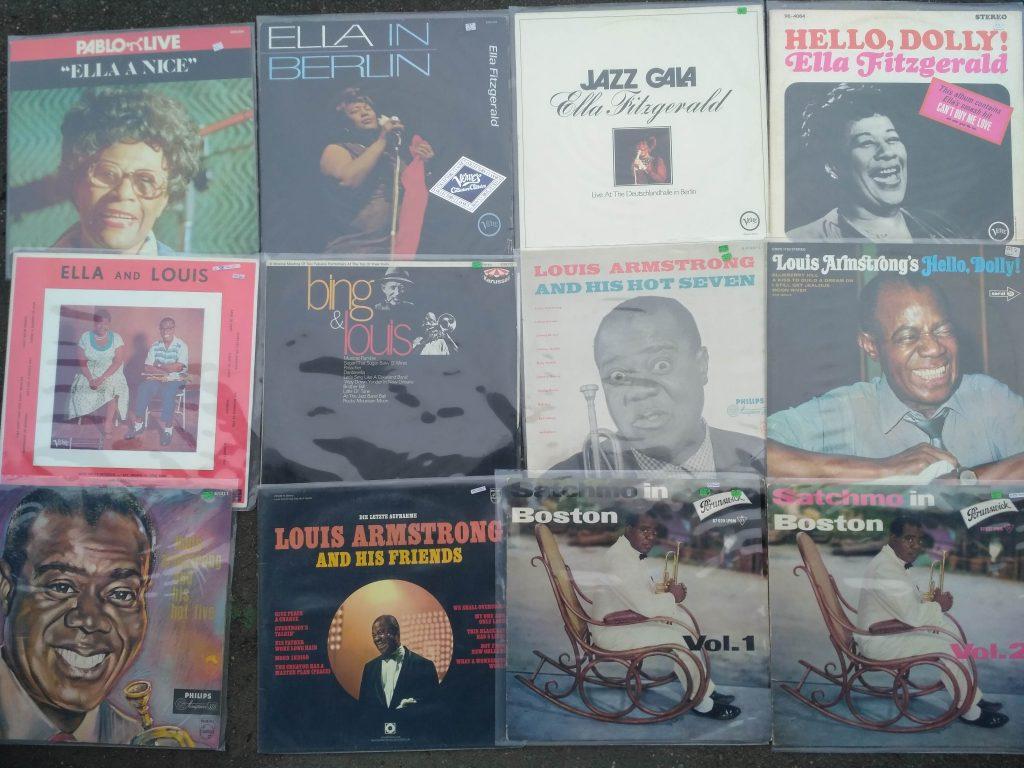 Ella Fitzgerald Louis Armstrong Vinyl Best Music Schallplattenladen Twistetal - Twiste / Nordhessen plus 500 diverse andere Jazz LPs